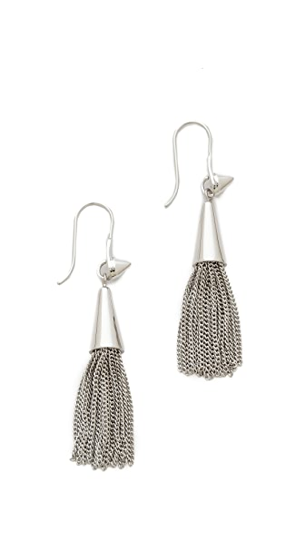 Eddie Borgo Small Chain Tassel Earrings