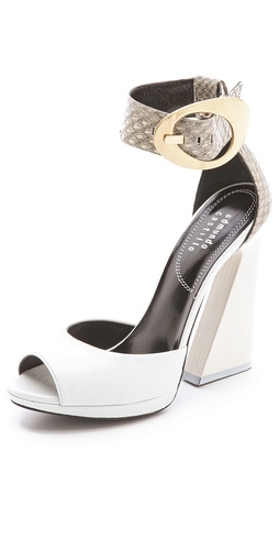 Edmundo Castillo Leah Pyramid Heel Sandals