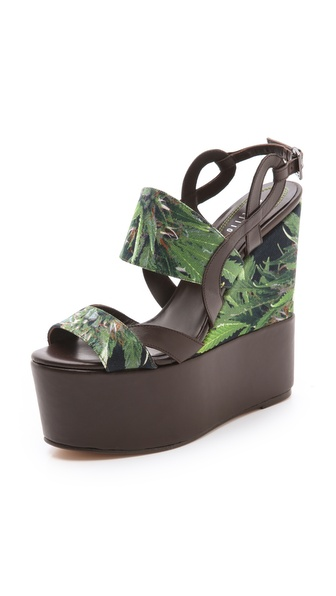 Edmundo Castillo Multicolor Wedge Sandals