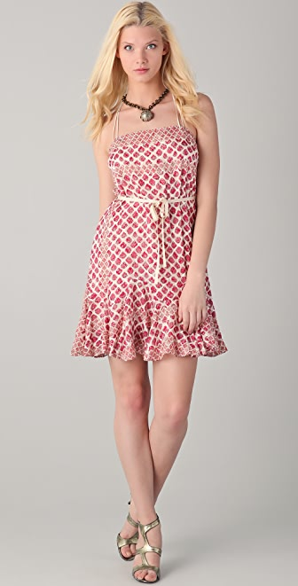 EDUN Diamond Print Strappy Dress