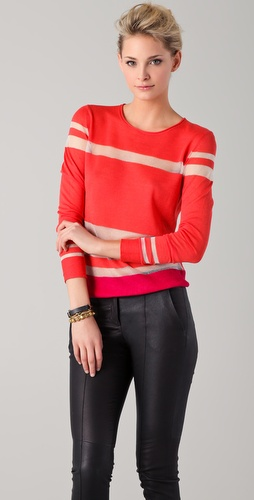 EDUN Color Blocked Stripe Sweater