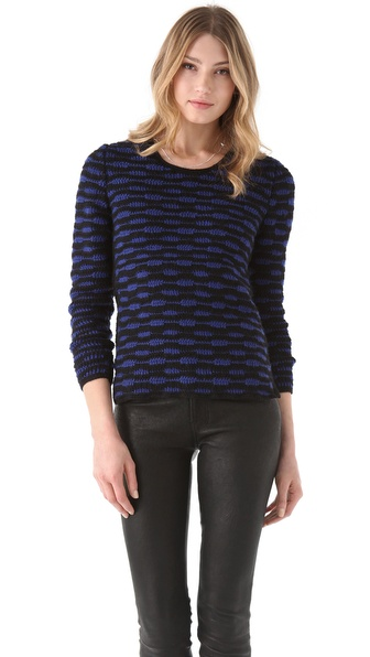 EDUN Zebra Stripe Crochet Sweater