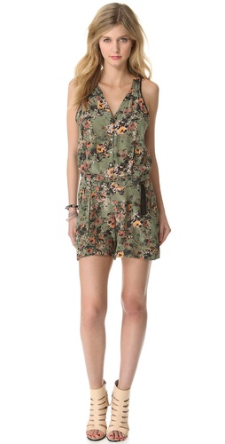 EDUN Etched Poppies Print Romper at Shopbop.com