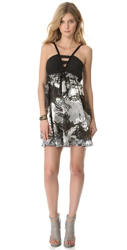 EDUN Crosshatch Camo Print Dress at Shopbop.com