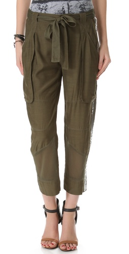 EDUN Sequin & Mesh Cargo Pants at Shopbop.com