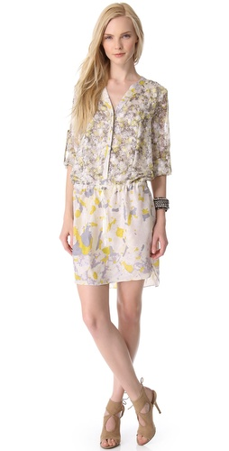 EDUN Bleach Camo Print Shirtdress at Shopbop.com