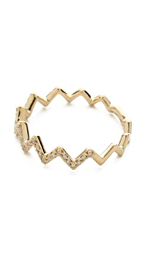 EF Collection Pave Diamond Zigzag Stack Ring