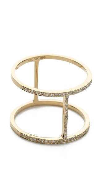 EF Collection Pave Diamond Bar Ring