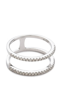 EF Collection Diamond Double Spiral Ring