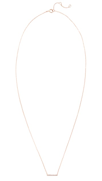 EF Collection 14K 金钻石迷你条扣项链