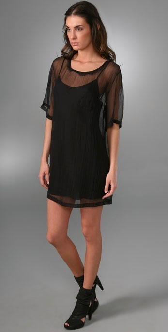 Elizabeth and James Gauze T-Shirt Dress