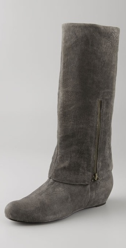 Elizabeth and James Steel Long Cuff Boots on Hidden Wedge