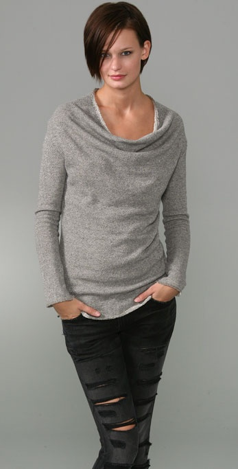 Elizabeth and James Funnel Neck Sweatshirt