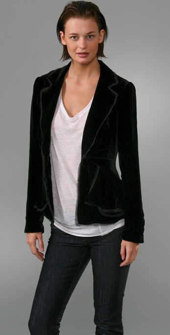 Elizabeth and James Loveworn Velvet Blazer
