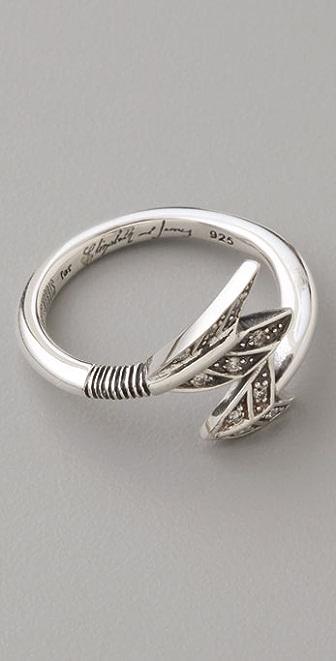 Elizabeth and James Arrow Ring