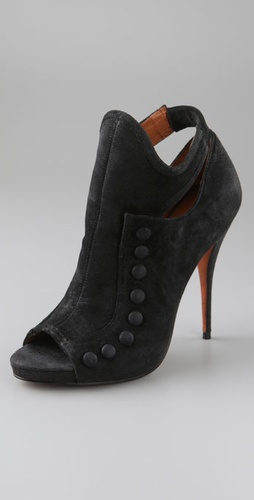 Elizabeth and James Ashlyn Suede Peep Toe Booties