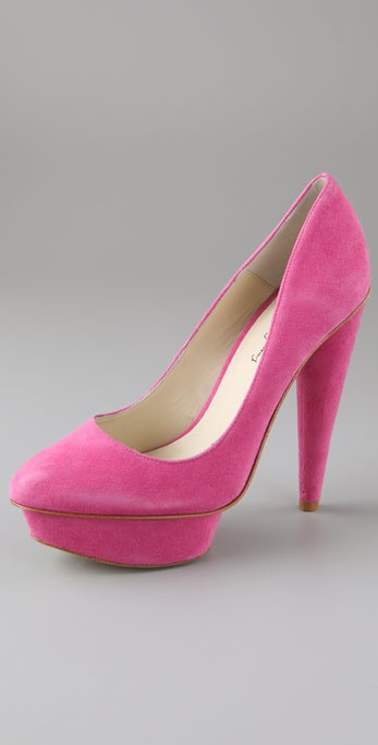 Elizabeth and James Mason Suede Platform Pumps