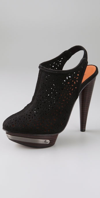 Elizabeth and James Maryl Laser Cut Suede Pumps