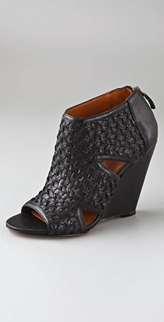 Elizabeth and James Swoon Woven Wedge Booties