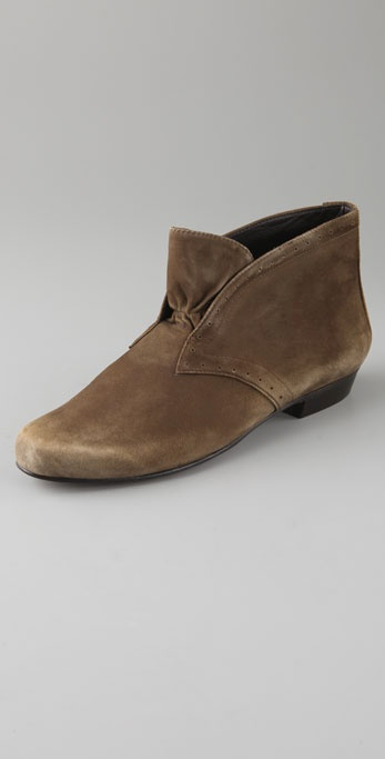 Elizabeth and James Cami Flat Suede Booties