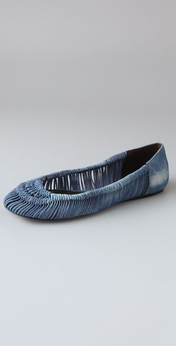 Elizabeth and James Coli Suede Flats