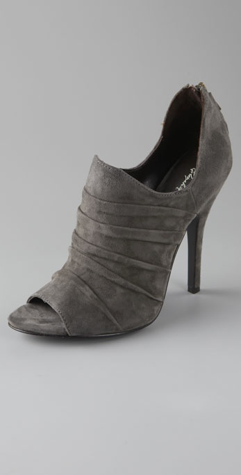 Elizabeth and James Skylar Draped Suede Booties