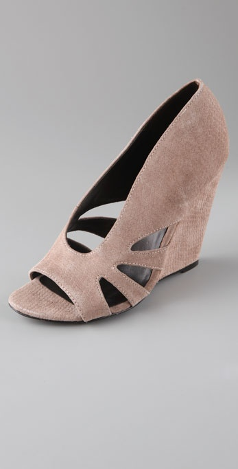 Elizabeth and James Stash Suede Cutout Wedges