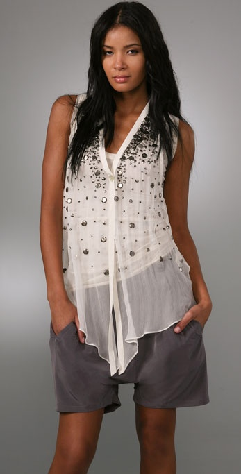 Elizabeth and James Sleeveless Embellished Tokyo Top