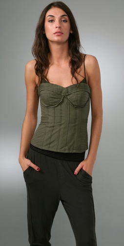 Elizabeth and James Army Corset Top