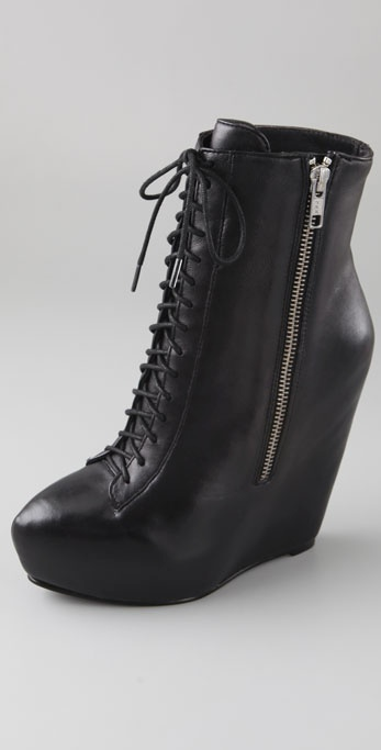 Elizabeth and James Stilt Platform Wedge Booties