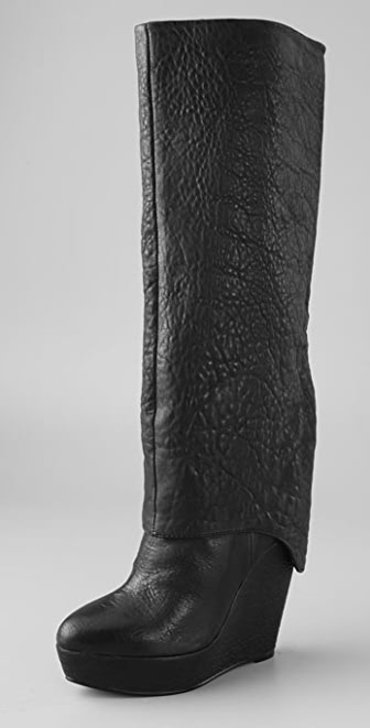 Elizabeth and James Scuff Platform Boots with Long Cuff