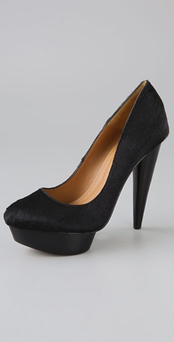Elizabeth and James Mason Haircalf Platform Pumps