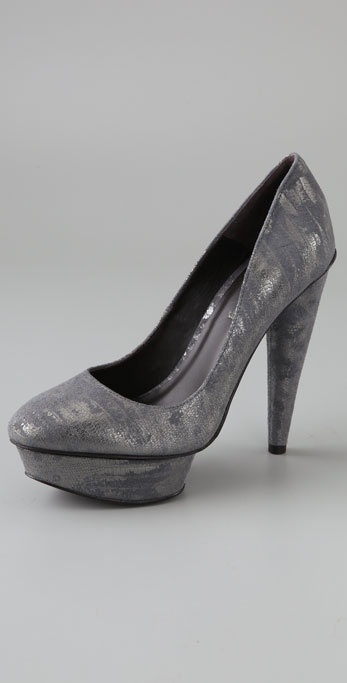 Elizabeth and James Mason Metallic Platform Pumps