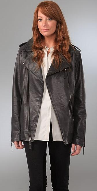 Elizabeth and James Boyfriend Biker Leather Jacket