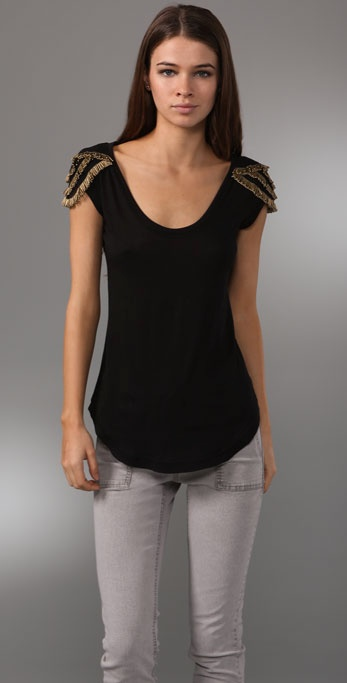 Elizabeth and James Beaded Lizzy Tee