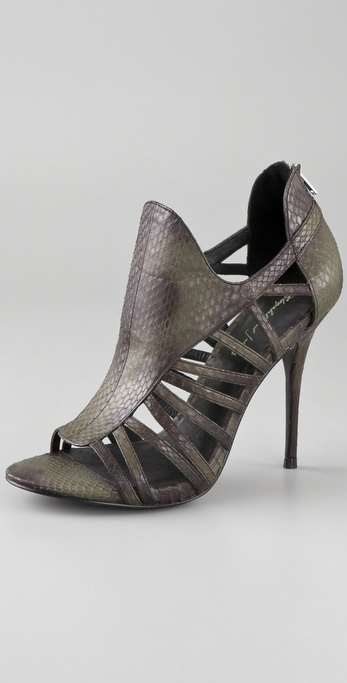 Elizabeth and James Lunge Snake Slatted Sandals