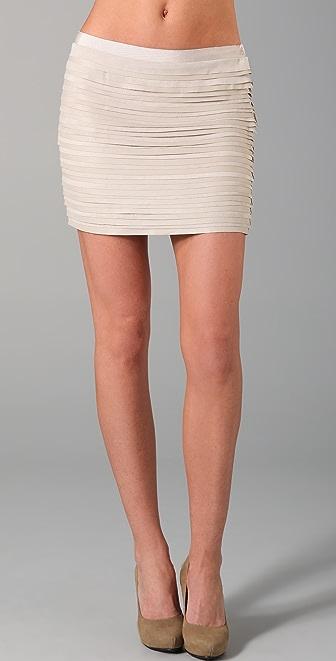 Elizabeth and James Celeste Leather Miniskirt