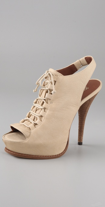 Elizabeth and James Margo Lace Up Platform Pumps