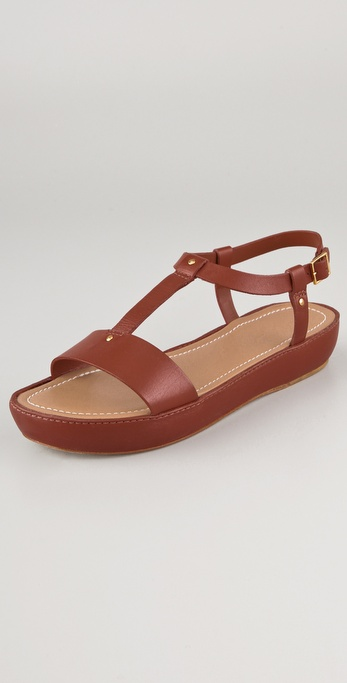 Elizabeth and James Cree T Strap Flatform Sandals