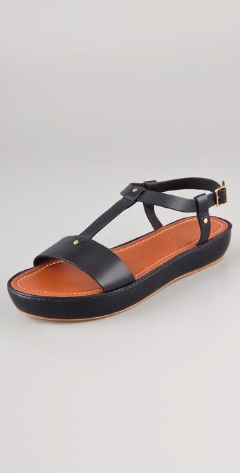 Elizabeth and James Cree T Strap Flatform Sandals