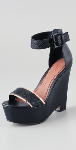 Elizabeth and James Sibil Wedge Platform Sandals