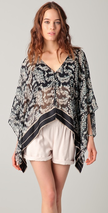 Elizabeth and James Ikat Didi Kimono Top
