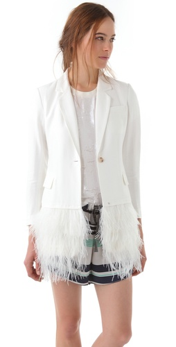 Elizabeth and James Drapey Feather James Blazer