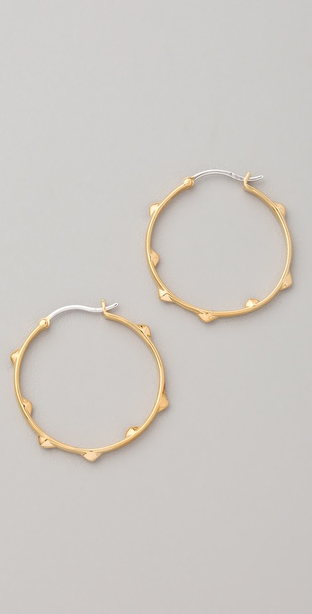 Elizabeth and James Small Thorn Hoop Earrings