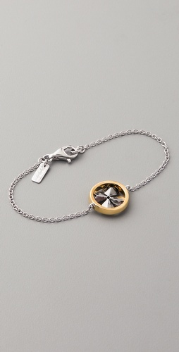 Elizabeth and James Round Clover ID Bracelet