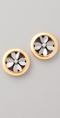 Elizabeth and James Round Clover Stud Earrings