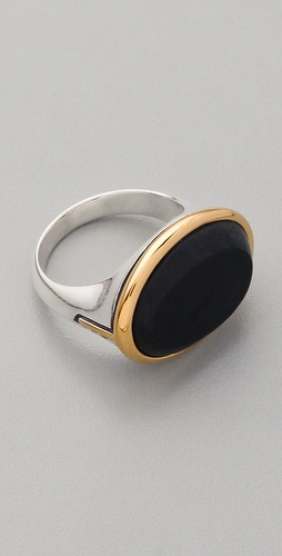 Elizabeth and James Saddle Matte Onyx Ring