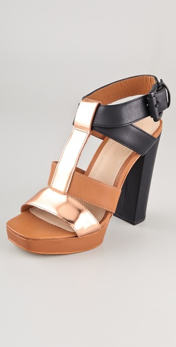 Elizabeth and James Sam T Strap High Heel Sandals