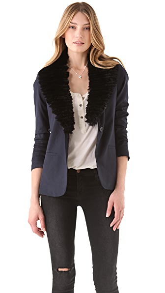 Elizabeth and James Fur Collar Jim Blazer