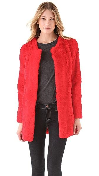 Elizabeth and James Bora Rabbit Fur Coat